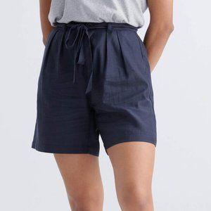 Emma Knudsen Paper Bag Style Logan Short in Navy
